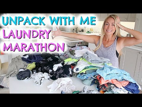 UNPACK AND CLEAN WITH ME ROUTINE  | GET ORGANISED AFTER VACATION IN 24 HOURS!  EMILY NORRIS