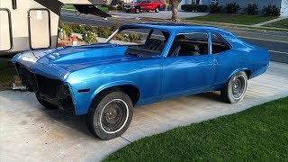 Father and Son 1971 Chevrolet Nova Vortec 350 Restoration Project