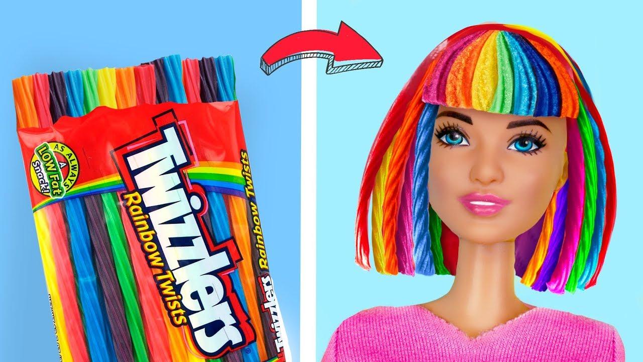 12 Trucos Simples Para Tu Barbie Ropa Y Accesorios Comestibles Para Barbie Youtube
