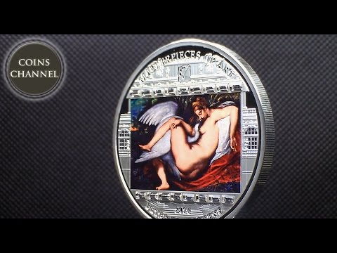 $20 Silver Coin Cook Islands 2014 - Masterpieces of Art - Leda and Swan