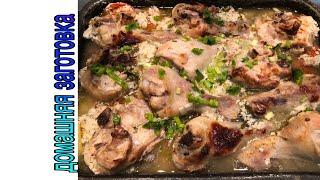 Курица с картошкой на кефире в духовке с томатами эпизод №334