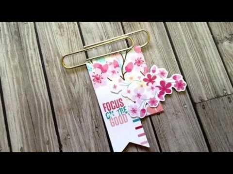 DIY Paper Clip #2 (Cocoa Daisy Cherish Blossom Planner kits)