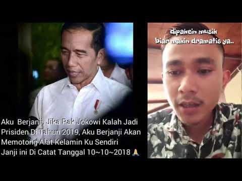 Janji Potong Kelamin, Pendukung Jokowi Minta Maaf Di Medsos