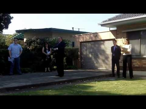 Successful House Auction In Progress With Jonathon Moore Property Auctioneer Adelaide