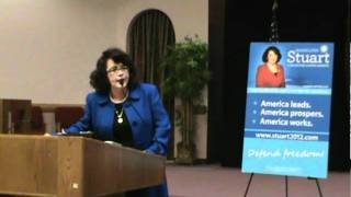 MARIELENA STUART - UNCENSORED and UNAFRAID - Speech - Brevard County Republican Exec. Comm.MPG