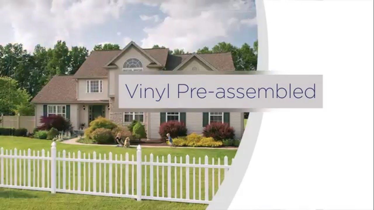 vinyl fence panels. Freedom Pre-Assembled Vinyl Fence Installation Overview Panels