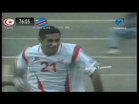CAN 1998 Tunisie vs RD Congo (2-1) - Les Buts du Match 12-02-1998