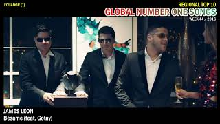 GLOBAL NUMBER ONE SONGS (week 44 / 2016)
