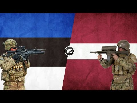 ESTONIA VS LATVIA - Military Power Comparison 2017