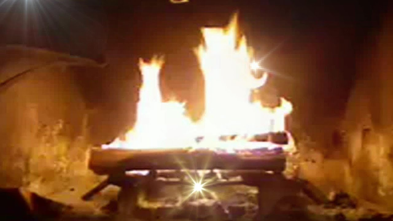 fireplace crackling warm sleeping meditating relaxing white
