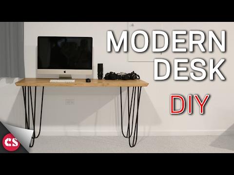 Making a Modern Desk - Rebar & Pine