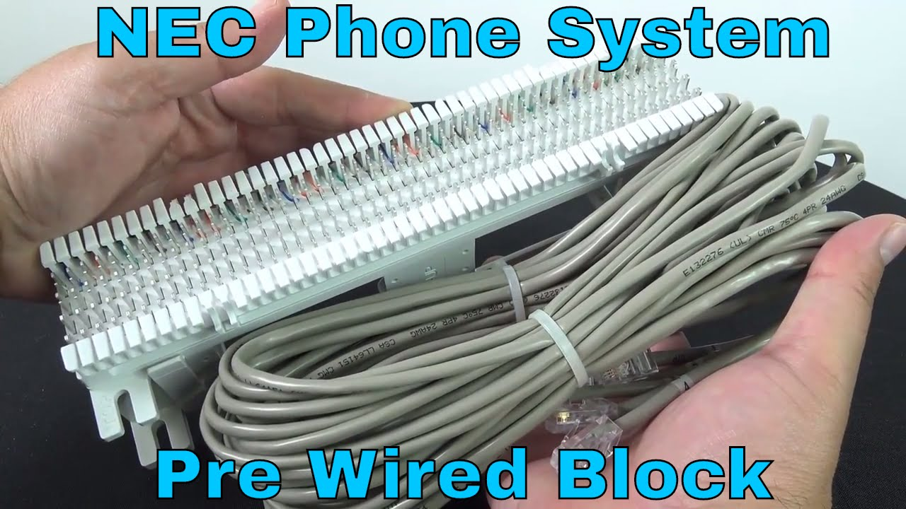small resolution of nec phone system pre wired 66 block with rj45 youtube phone system wiring block