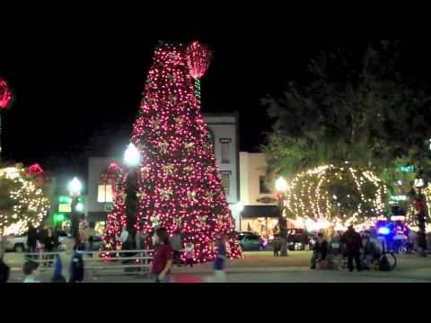 Downtown Ocala 2010 Christmas Lights - Downtown Ocala 2010 Christmas Lights - YouTube