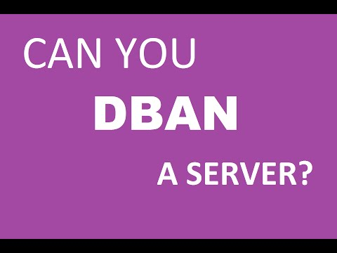 Can You DBAN a HP ProLiant Server? (How to wipe or erase server hard drives with SCSI RAID)
