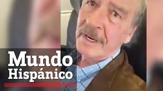 Vicente Fox ataca a inmigrante que lo llama ladrón