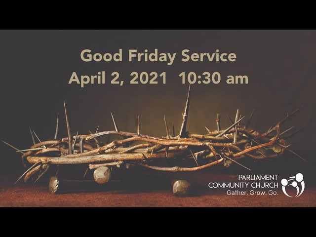 Good Friday Service - 2020-04-02