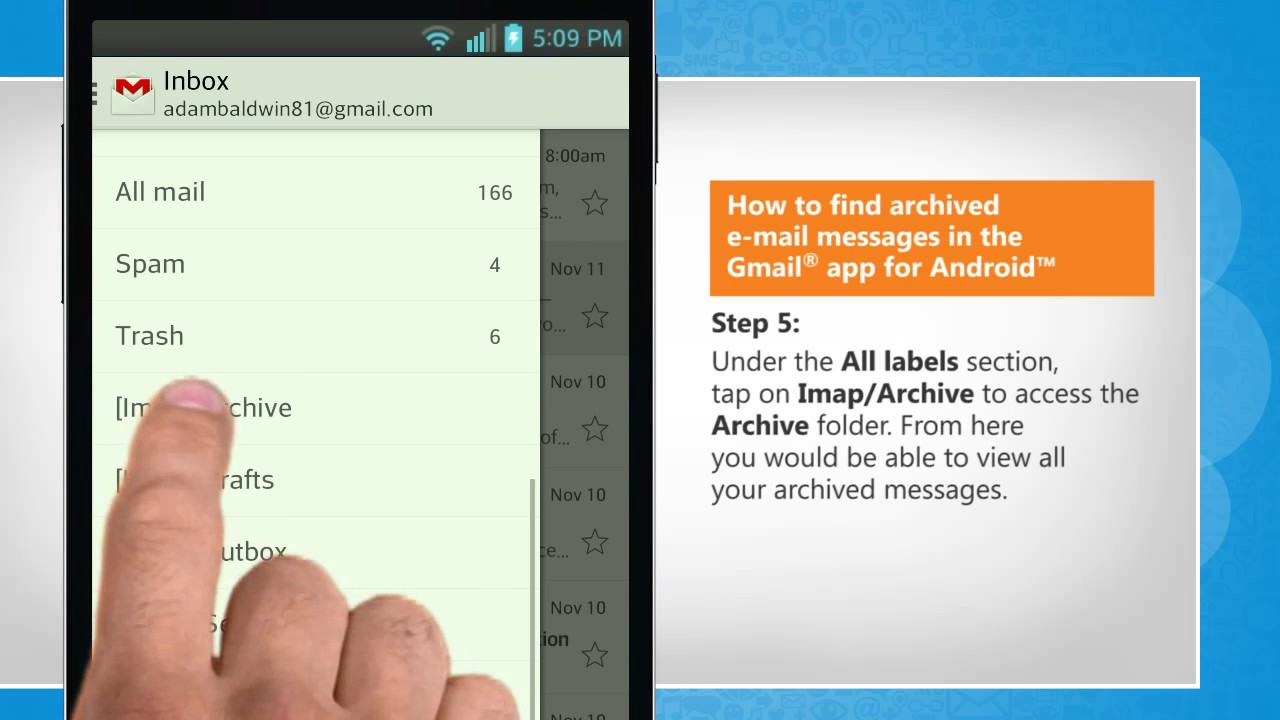 How To Get Archived Gmail >> How To Find Archived Email Messages In The Gmail App For Android