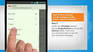 How to find archived e-mail messages in the Gmail® app for Android™ by iYogi