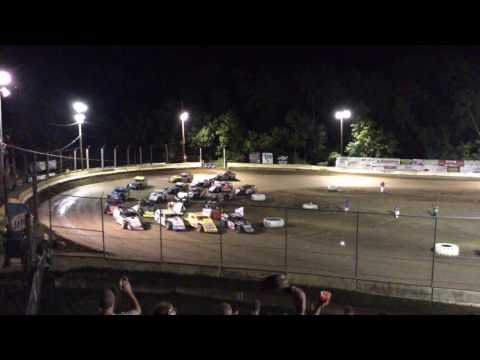 Highland Speedway A Modified 4 Wide Parade Route