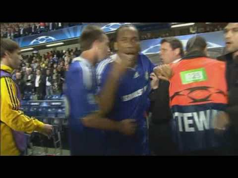 Didier Drogba Angry After Chelsea Lose In The Champions League