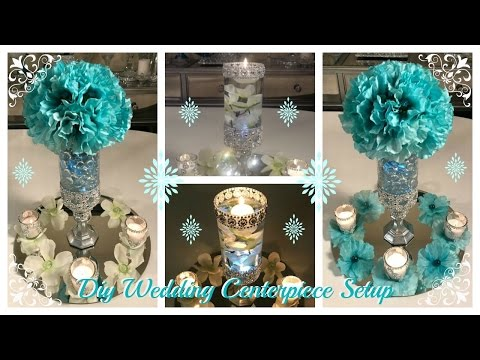 DOLLAR TREE DIY - WEDDING CENTERPIECE  IDEAS - (WEDDING SERIES PART 3) (GIVEAWAY CLOSED)
