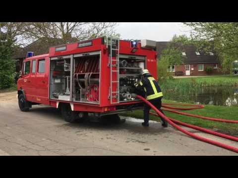 Feuerwehranwärter Abschlussprüfung in Köthel