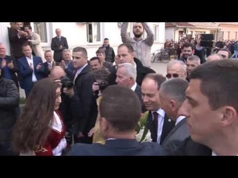 Pamje, presidenti Shqiptare Bujar Nishani ne Bujanoc