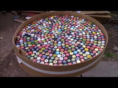 Upcycling ideas bottlecap table