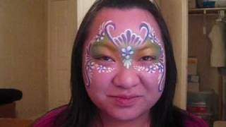 Basic Base #1 - Eyeshadow - Free Design - floral face painting Thumbnail