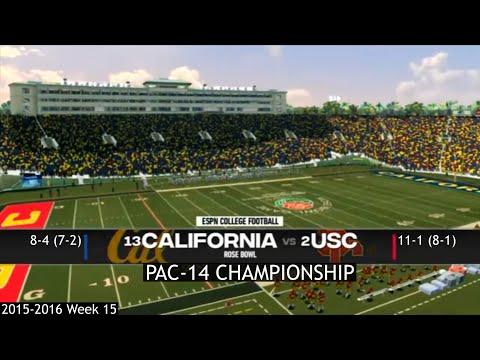 Dynasty Mode | USC O.C. 15-16 | PAC-14 Championship | #13 California Golden Bears VS. #2 USC Trojans