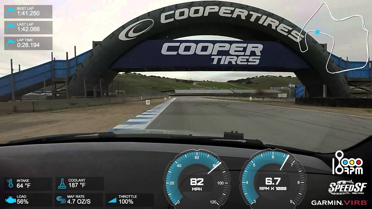 Fast Hot lap at Mazda Raceway laguna Seca with Speed SF Track ...