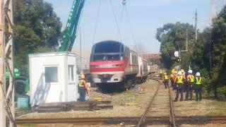 さよなら名鉄1030-1230系廃車解体1131Fパノラマsuperクレーン吊り上げ線路とお別れ
