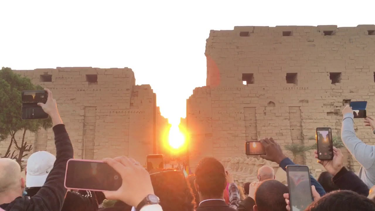 Winter solstice 2020 at Karnak Temple