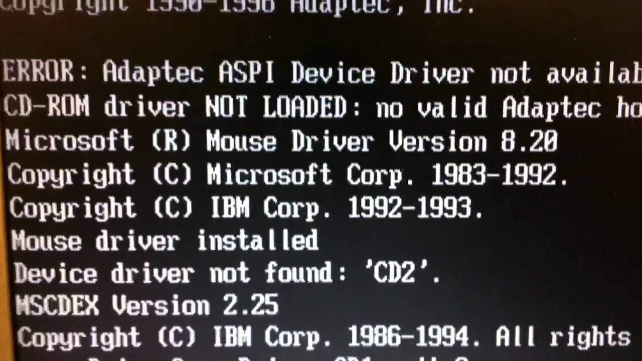 DRIVERS FOR ASPI CDROM