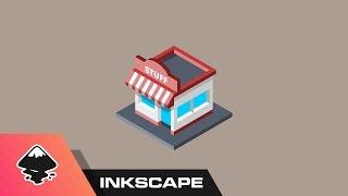 Inkscape Tutorial: Isometric Shop Icon