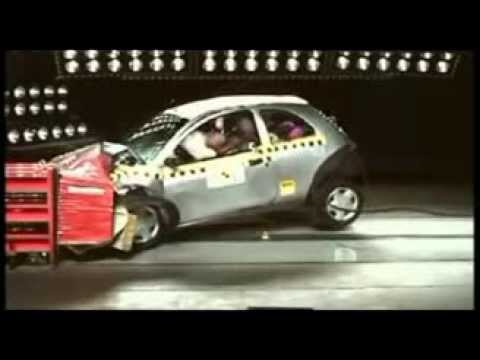 crash test ford ka 2000 youtube. Black Bedroom Furniture Sets. Home Design Ideas