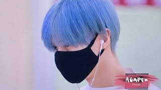 170513 Blue Hair SHINee Taemin giving fans heart attack - real life anime boy
