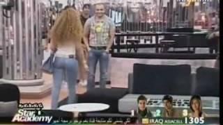 ميريام فارس تمشي وتهز ستار اكاديمي 8