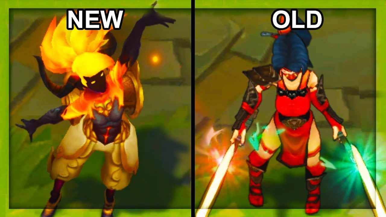 All NEW and OLD Akali Skins Texture Comparison 2018 Rework Final Update  (League of Legends)