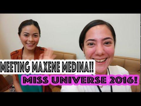 VLOG: MEETING MISS UNIVERSE-PHILIPPINES 2016 MAXENE MEDINA + SKY IS SICK  oeuvretrends