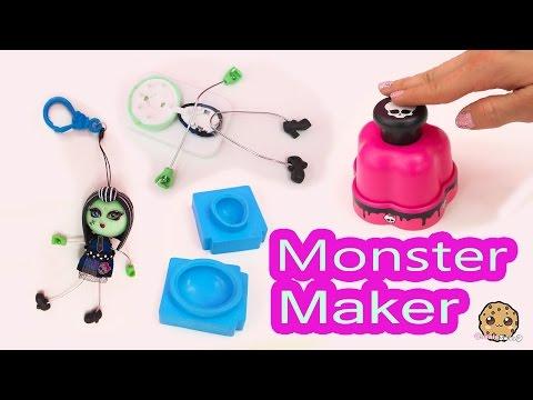 Monster High Maker Machine Create A Frankie Stein Mini Doll Craft Toy Playset - Cookieswirlc Video