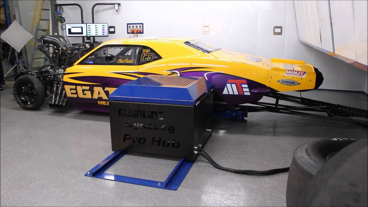 MEGATILT Drag Car Run on ProHub 2000Hp Chassis Dyno