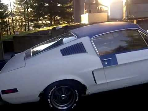 For Sale  1968 Mustang Fastback  Running Car  YouTube