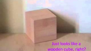 Demo Mini Cube Wooden Clock warna hijau by www.hadiahspesial.com