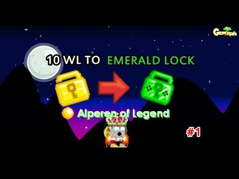Growtopia-10 World Lock To Emerald Lock With Farm/Profit #1