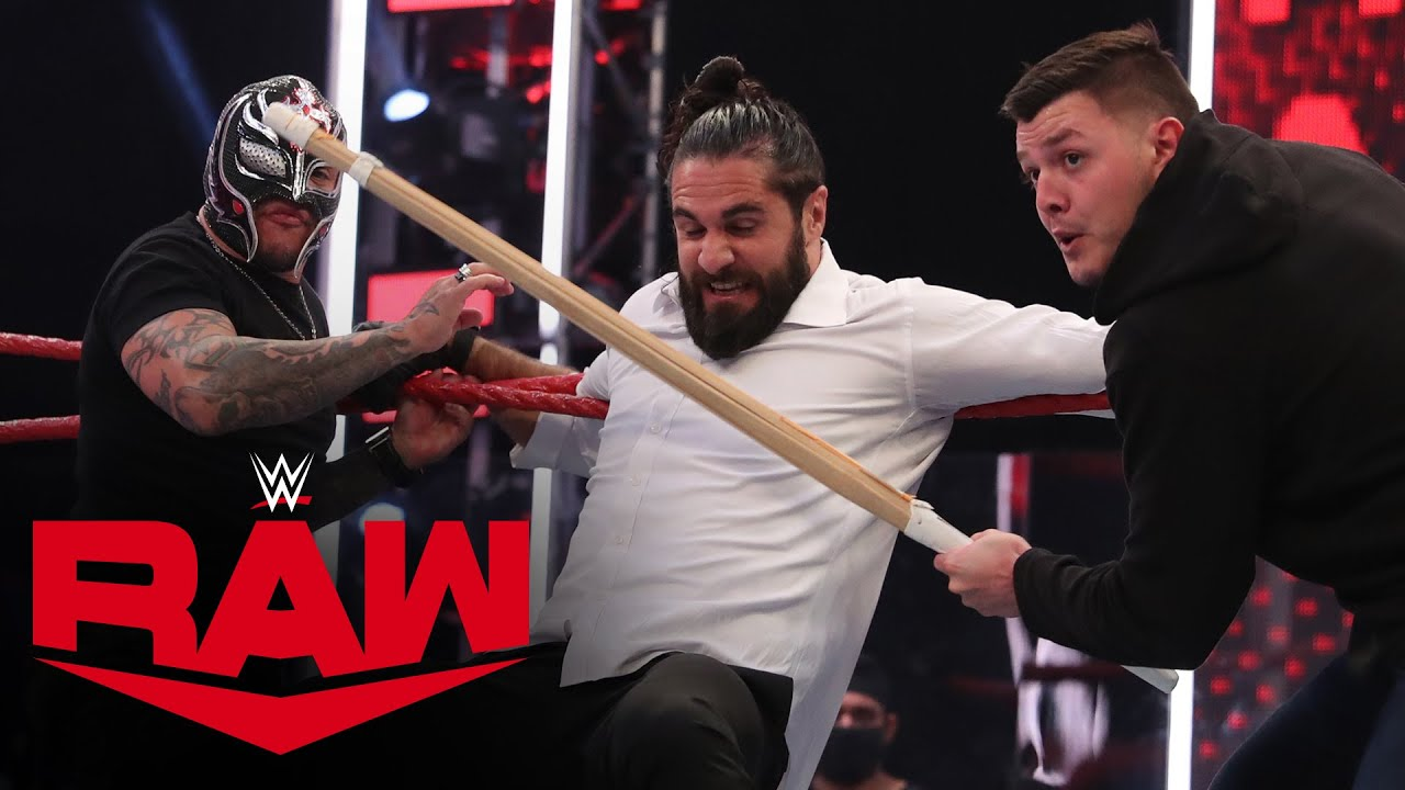 Download Rey & Dominik Mysterio fight off Seth Rollins & Murphy: Raw, Aug. 17, 2020