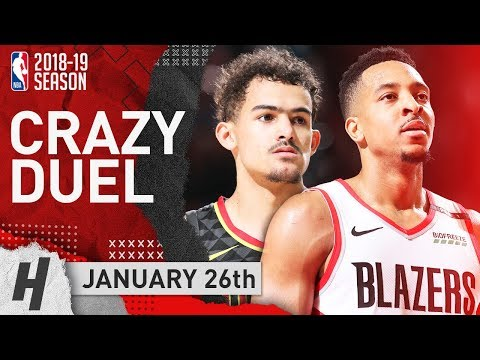 CJ McCollum vs Trae Young CRAZY Duel Highlights 2019.01.26 - TD for CJ, 30 Pts for Trae!