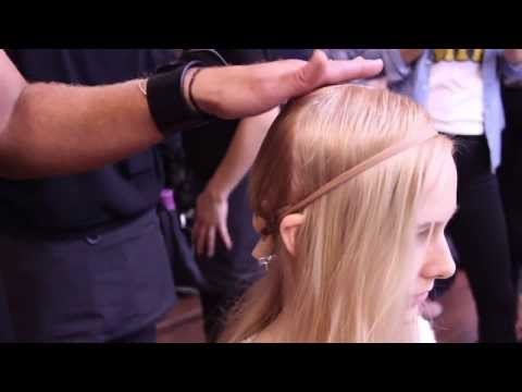 Backstage Beauty at the Jeremy Laing Show Spring 2014