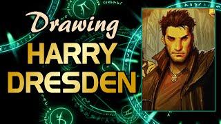 Drawing Harry Dresden