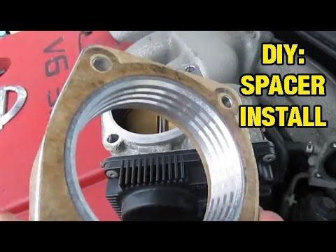 Installing Throttle Body Spacer  Altima, Maxima, I35, Murano, 350z, g35  YouTube